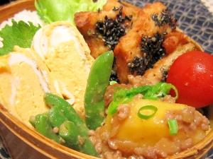 お弁当おかず☆鶏胸肉の胡麻のり揚げ