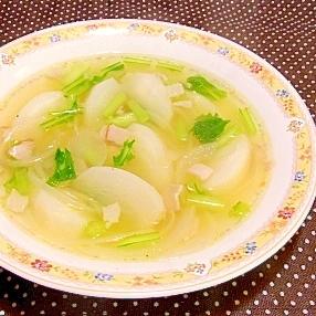 かぶとハムのスープ