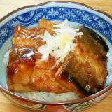 秋刀魚のかば焼き丼