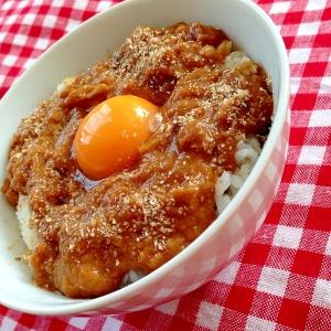 カレー&卵のぶっかけ丼!!
