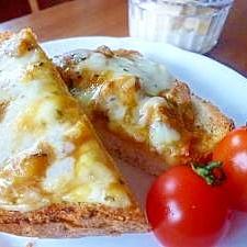 スピード朝食!チーズカレートースト