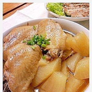 圧力鍋で簡単調理!手羽先と大根の煮物