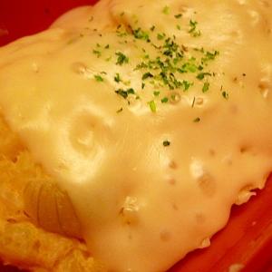 レンジで☆セロリと玉ねぎのチーズオムレツ
