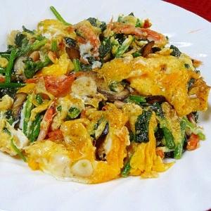 朝の定番☆ 栄養満点「ほうれん草の卵炒め」