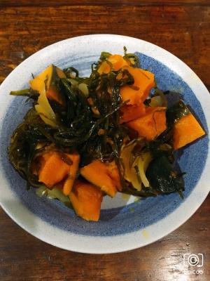 刻み昆布とかぼちゃの煮物