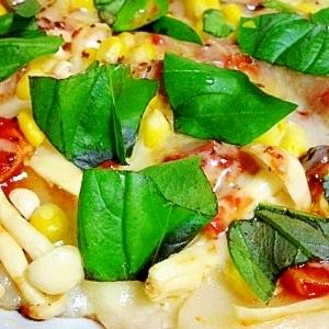 フライパンで作る 《餅ピザ》