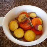 さつま芋とニンジンのローズマリー蒸し煮