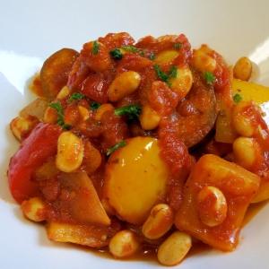 カレー風味♪お豆のラタトゥイユ