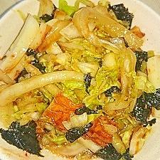 ピリ辛☆ちくわと白菜の海苔風味ごま酢味噌和え