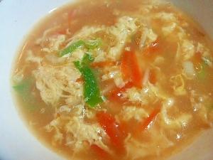 ラーメンの残りスープをアレンジ! かき玉スープ