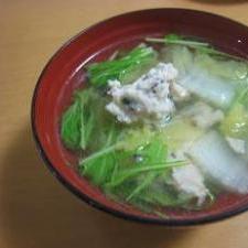 ***野菜たっぷり鶏だんごのスープ***
