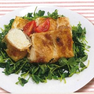 豆腐の肉巻きステーキ