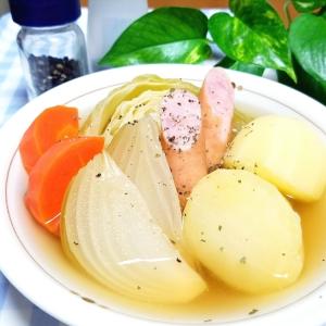柔らかなのに煮崩れナシ!大きめ野菜のゴロッとポトフ
