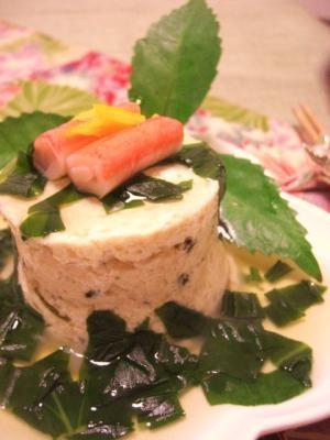 豆腐と鶏つくねのミルフィーユ仕立て♪ オサレです♪