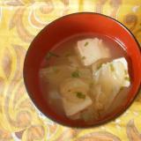 キャベツ・豆腐の味噌汁