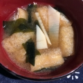 筍とわかめと油揚げのお味噌汁