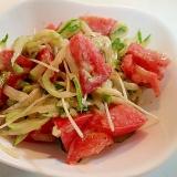 ごまわさび/マヨで トマトと胡瓜とかいわれのサラダ
