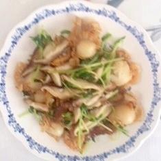 【うま塩】ベビー帆立と豆苗の炒め物