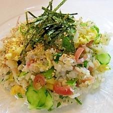 夏のサッパリ☆みょうがのちらし寿司