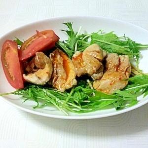 レンジで簡単!蒸し鶏の豆板醤サラダ