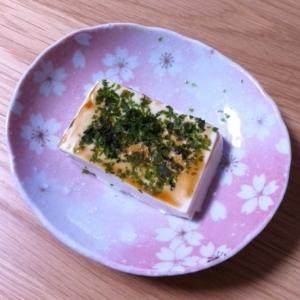 離乳食後期♪豆腐のソース青海苔かけ☆