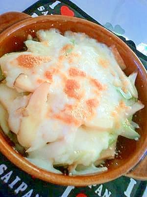 ☆長ネギとエリンギのチーズ焼き☆バター醤油味♪