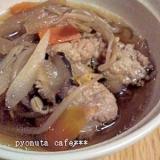 生姜でぽかぽか 鶏肉団子のご馳走スープ