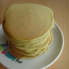 オイルフリー♪抹茶のホットケーキ