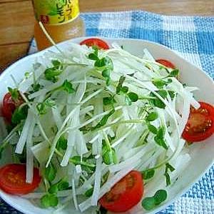 青紫蘇がぴったり♪ 大根サラダ。