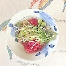赤大根、枝豆、ラディッシュ、胡瓜の梅酢和え