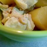 無水鍋で♪鶏と大根の煮物