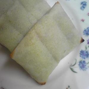 オーブントースターで春巻きの皮包みスイートポテト