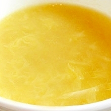 ふんわり卵とほたての中華風コーンスープ