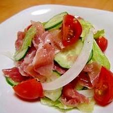 野菜たっぷり生ハムマリネ