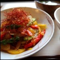 低カロリー!糸寒天で韓国チャプチェ風