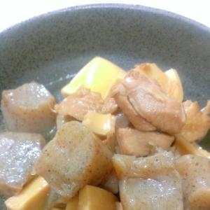 筍とこんにゃくと鶏肉の煮物♪