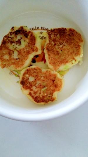 離乳食☆豆腐入りキャベツと納豆のお好み焼風