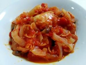 トマト缶で☆鶏肉と玉ねぎのトマト煮
