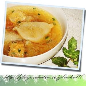 水餃子の台湾風スープ