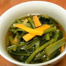 めんつゆだけで簡単に♪小松菜の煮浸し