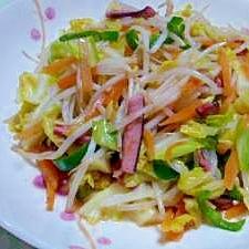 イカの塩辛で簡単野菜炒め