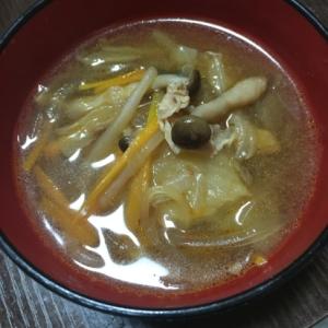 簡単マロニー中華スープ
