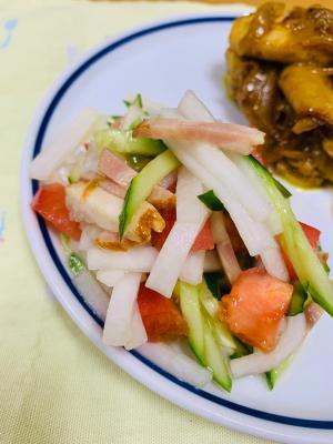 ごま油香る焼き豚サラダ