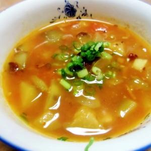 茄子とトマトのカレースープ