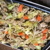 ブルーノで!!鳥もも肉と野菜のエバラ焼肉のたれ炒め