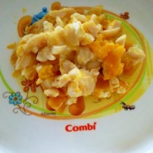離乳食☆大豆とかぼちゃのチーズサラダ
