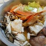 我が家のカニ鍋 白菜なかったのでキャベツです(笑)