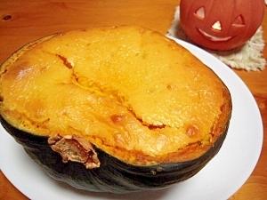 ハロウィーンに☆栗かぼちゃのベイクドチーズケーキ