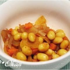大豆のケチャップ煮