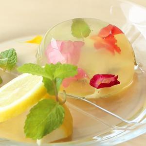 エディブルフラワーが可愛いレモンゼリー